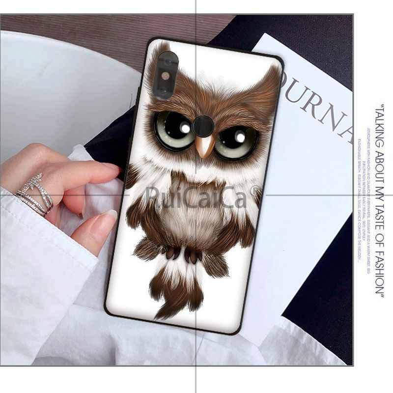 Ruicaica בעלי החיים לילה ינשוף יפה קריקטורה Coque טלפון מקרה ffor שיאו mi mi 6 mi x2 mi x2S Note3 8 8SE אדום mi 5 5 בתוספת Note4 4X Note5