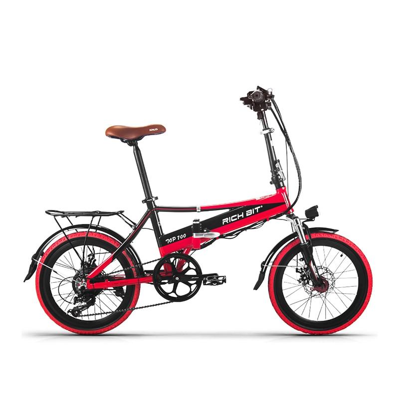 Richbit новых электровелосипедов 48В 250 Вт складной Электрический велосипед 20 дюймовый портативный мощный Электрический велосипед с USB держатель сотового телефона зарядное устройство