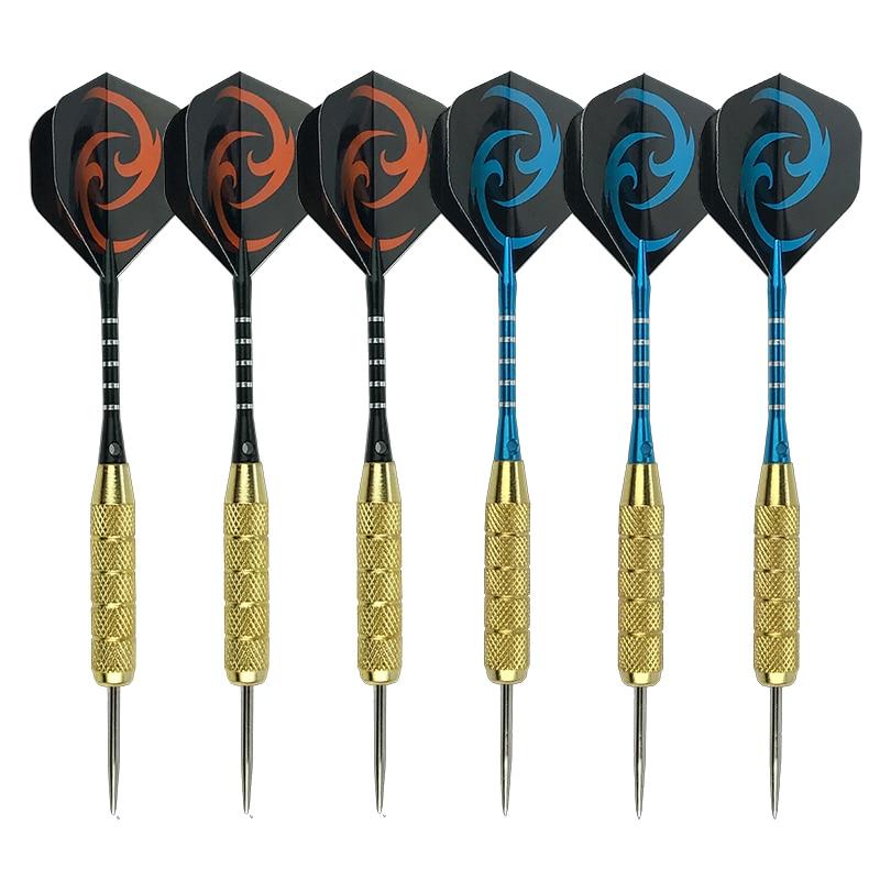 6 Pack Red /& Blue Steel Tip Brass Dart Set Plastic Dart Flight Throwing To VY P1
