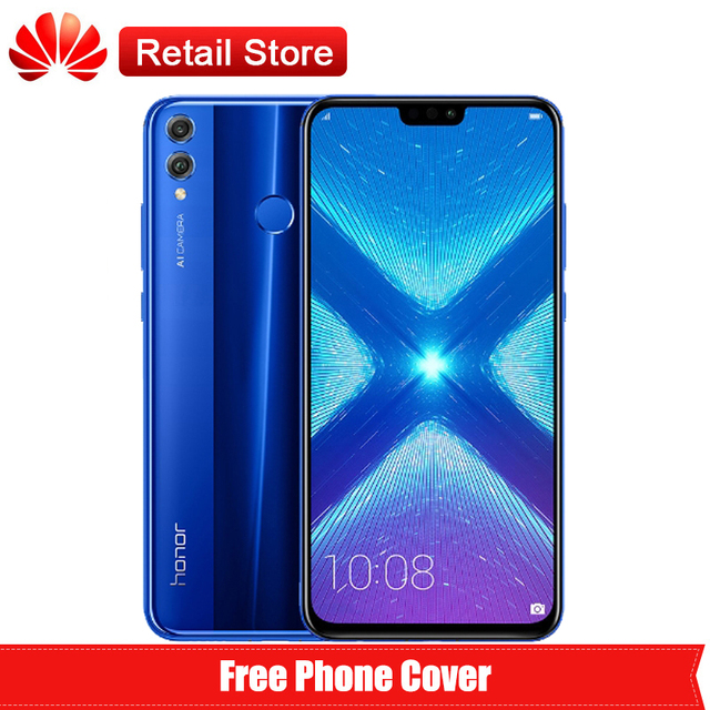 "Huawei Honor 8X 4G LTE Mobile Phone 6.5"" FHD Screen Kirin 710 Android 8.1 Dual Back 20MP Camera 3750mAh Fingerprint Smartphone"
