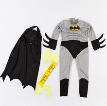 Hot Sale Child Boy Muscle Batman DC Comic Superhero Movie Character Cosplay Fancy Dress Halloween Carnival Party Costumes