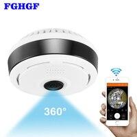 FGHGF Mini Wifi IP Camera 1080P 360 Degree Camera IP Fisheye Panoramic 2MP WIFI PTZ IP
