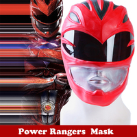 NEW Movie Power Rangers Cosplay Mask Red Warrior Helmet Jason Halloween Mask