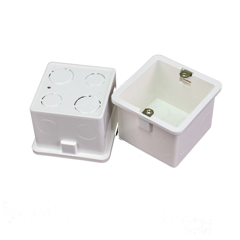 4pcs 86 Type Junction Box Cassette Power Cord Concealed Dark Box PVC Flame-retardant Junction Bottom Box