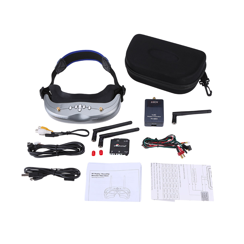 BOSCAM Thunderbolt TS5832 5.8G 2000mW 32CH Wireless Transmitter+BOSCAM GS922 5.8G 32CH FPV Goggles