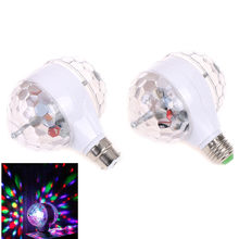 New Magic double-Ball KTV bar disco fairy lights E27 6W RGB led Christmas lights indoor holiday party Colorful Rotating Light(China)