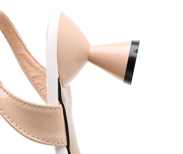 Negro Alto Hebilla La Dropshipping 2018 Punta De Zapatos Rosa blanco Exclusivo Negro Blanco Bombas Mujer Boda Tacón Sexy Tacones rosado Vestido YpqwZ4