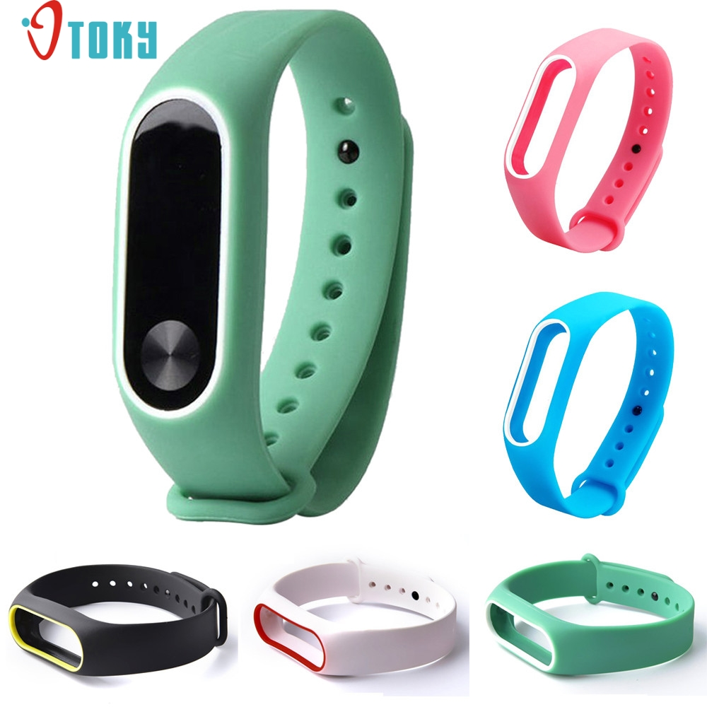 SUNWARD fashion colorful Replacement Silica Gel Wristband Band Strap For Xiaomi Mi Band 2 Bracelet Drop ship july4 P23 microsoft t2f 00009 xbox 360 quick chrgkit r