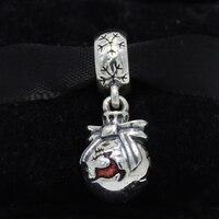 Plata esterlina 925 de rockart Navidad Reno cuelga charm adapta europea de la pulsera DIY joyería diseño único