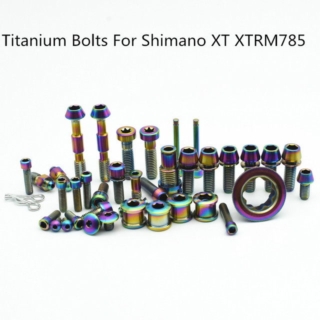 US $168 0 |Full Set Ti Bolt for SHIMANO XT/XTR M785 M8000 Upgraded Titanium  Bolts Gold and Multiple Color for Road and MTB Bike-in Bolts from Home