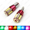 2 Pcs T10 194 3014SMD 57 Leds 7-Color 336LM Canbus Erro Free Car LED Light Bulb DC12/24 V # FD-5299