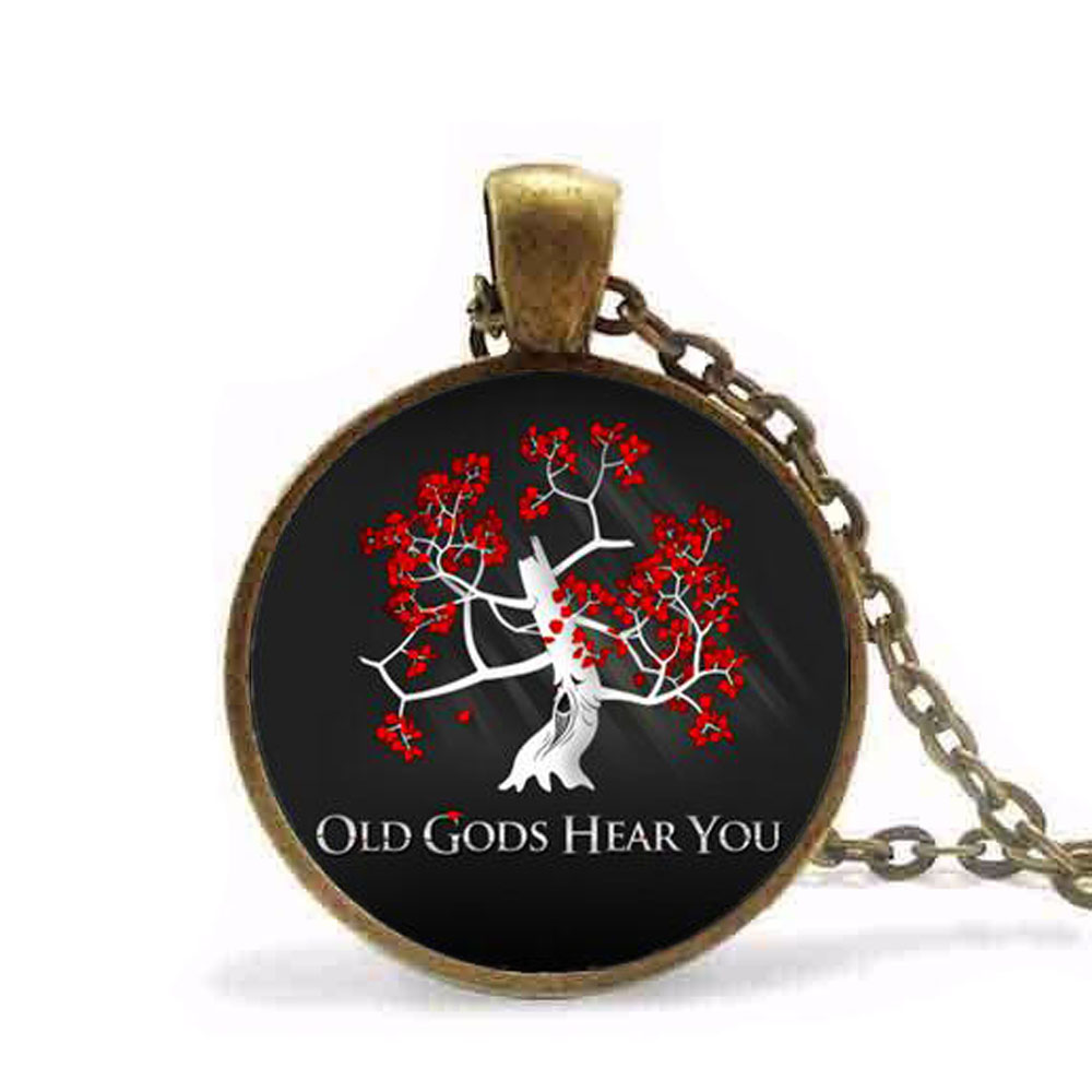 Steampunk Game of Thrones glass cabochon movie necklace ...