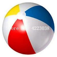 Бесплатная доставка ПВХ 3 м разноцветные надувной пляжный мяч GiantInflatable воздушный шар на пляж мяч морской плавательный игрушка для бассейна,