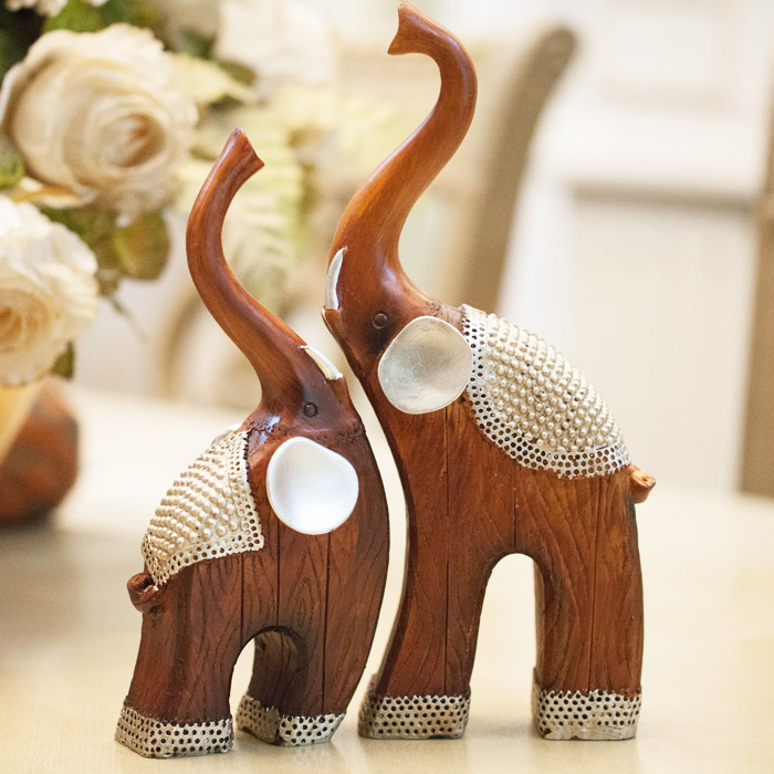 Elephant Home Decor: Animal Resin Crafts, Lovers Crafts, Living Room Decoration