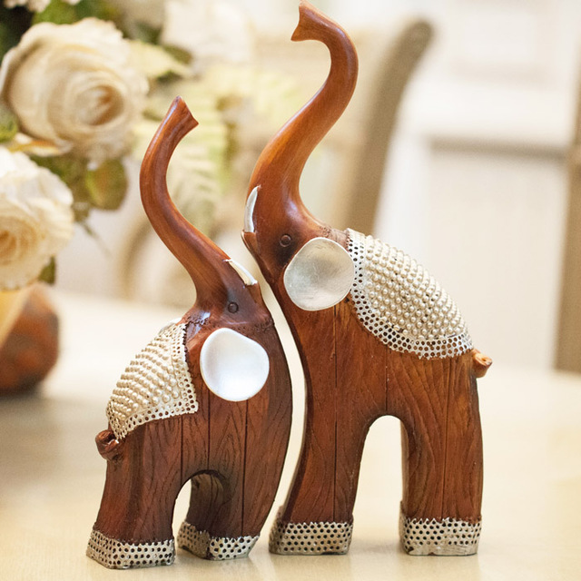 Animal Resin Crafts Living Room Decoration Home Decor Elephant