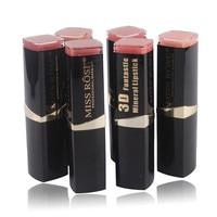 MISS ROSE12 Type Matte Lipstick Square Tube Lipstick 3D Pencil Makeup Sweet Girl Lip Lipstick To Mouth Lasting Moisture Lipstick Lipstick