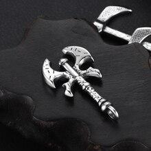 Stainless Steel Viking Bladebone-Double Axe Charms Halberd Bracelet Hooks DIY Necklace Pendant Findings Jewelry Making Supplies