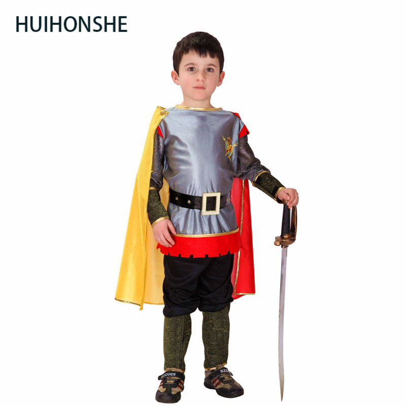 HUIHONSHE Roman Warrior Knight Children Cosplay Hallowean Carnival Party Boy Prince King ...