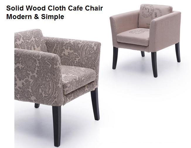 Solid Wood Cloth Cafe Chair Nordic Cafe Study Rear Armrest Sofa Chair Modern Simple italian modern nordic chair home restaurant cafe hotel chair practical windsor chair the study chair