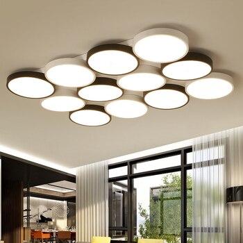 LED Moderne eisen acryl deckenleuchten wohnzimmer lampe ...