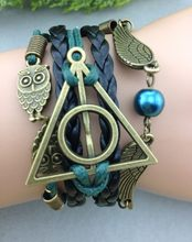 1pc bracelet, Infinity bracelet, owl wing bracelet, green bead bracelet, 1343 Mini order 10$(China)