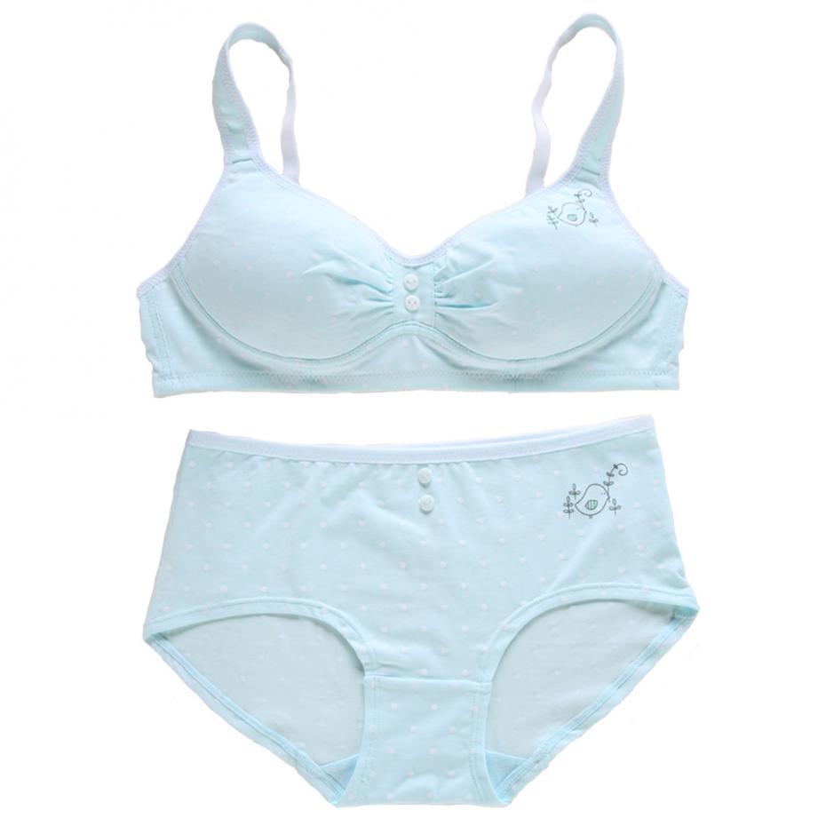 WoFee Breathable Thin Sponge Training Bra+Pants for Girls SY5202