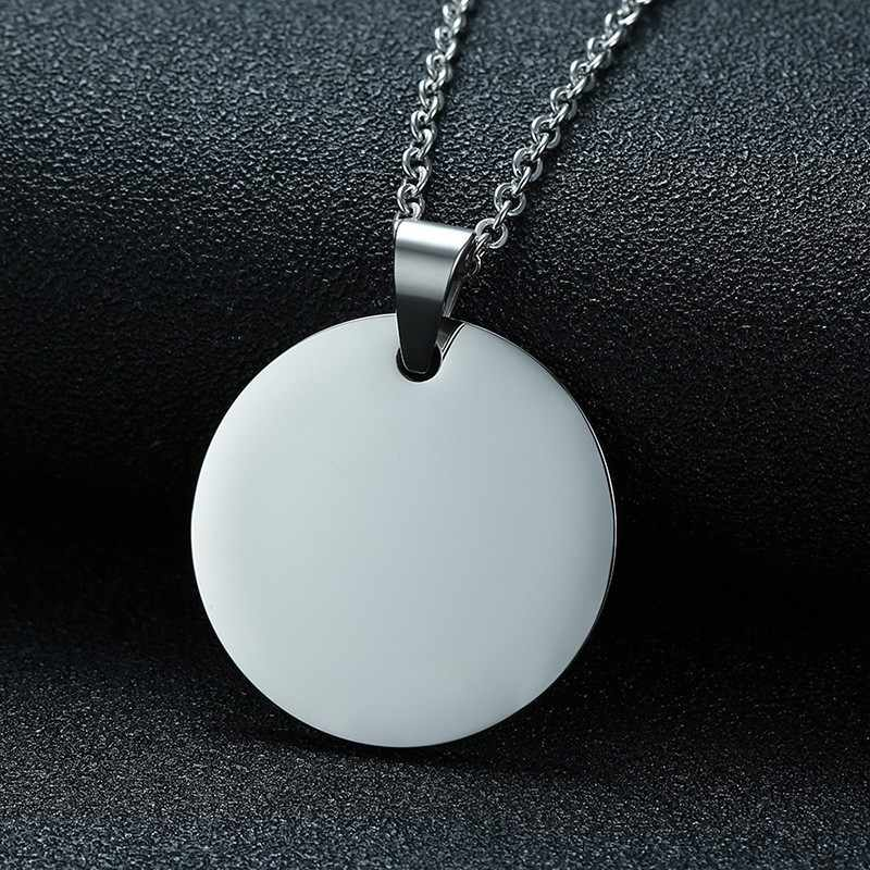Antique Sliver Coin Camping Handmade Coin Pendant Necklace For Men Women Stainless Steel Charm Party Jewelry