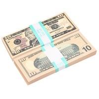 FAKE MONEY FULL PRINT 10s Dollar bill New Style Paper Money Movie Money