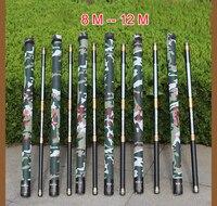 Миг Guangwei Мощность рука стержень 8 9 10 11 12 13 м жесткий углерода длинный шест Рыбалка стержень