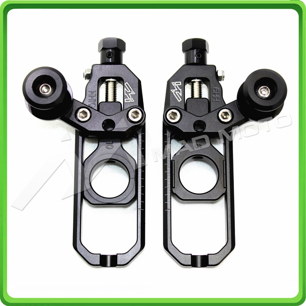 Motorcycle Chain Adjuster with paddock bobbins spool fit for Honda CBR600RR 2007 - 2016 2008 2009 2010 2011 2012 2013 2014 2015 mad moto high quality motorcycle chain adjuster with paddock bobbin fit for aprilia rsv4 2009 2010 2012 2013 2014 red black