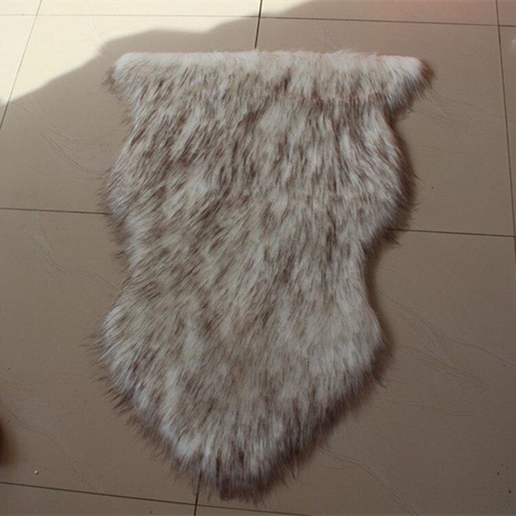 Tapis Australischen Carpet Gesamte Schaffell Kissen Pad Decke Schlafzimmer Fenster Alfombra Teppiche Wohnzimmer Tapete Para Quarto
