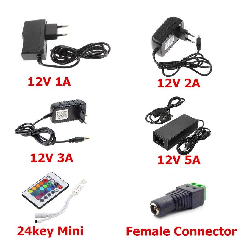 LED Power Supply 12V 1A 2A 3A 5A Adapter Driver AC 100 240V Transformer EU US