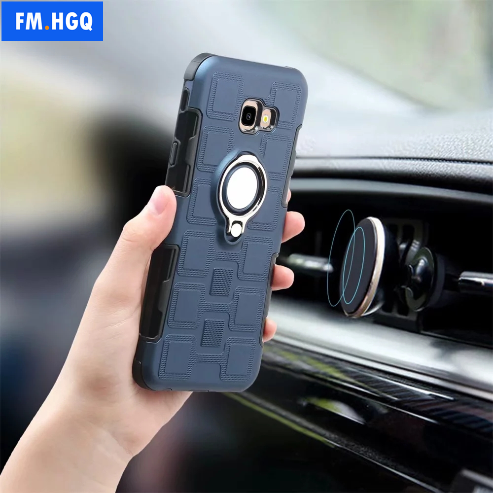 Samsung Galaxy J2 Core case Protective Cover 360 Degree Ring with Holder Kickstand Hard Shell for Magnetic Car Mount