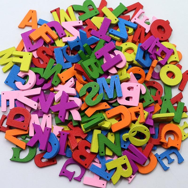 पत्र लकड़ी के बटन रंगीन 100 - कला, शिल्प और सिलाई