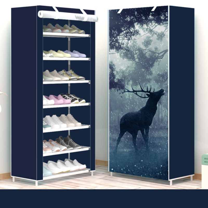 Eight Layers Household Dustproof Assembly Shoe Cabinet Non-woven Cloth Shoe Rack Economic Dormitory Small Shoes Storage Rack