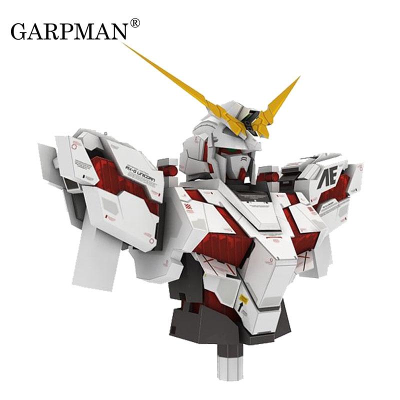 Gundam RX-0 Unicorn Bust Positive Proportion Paper Model