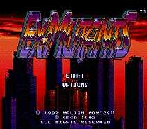 Ex Mutants Game Cartridge Newest 16 bit Game Card For Sega Mega Drive / Genesis System