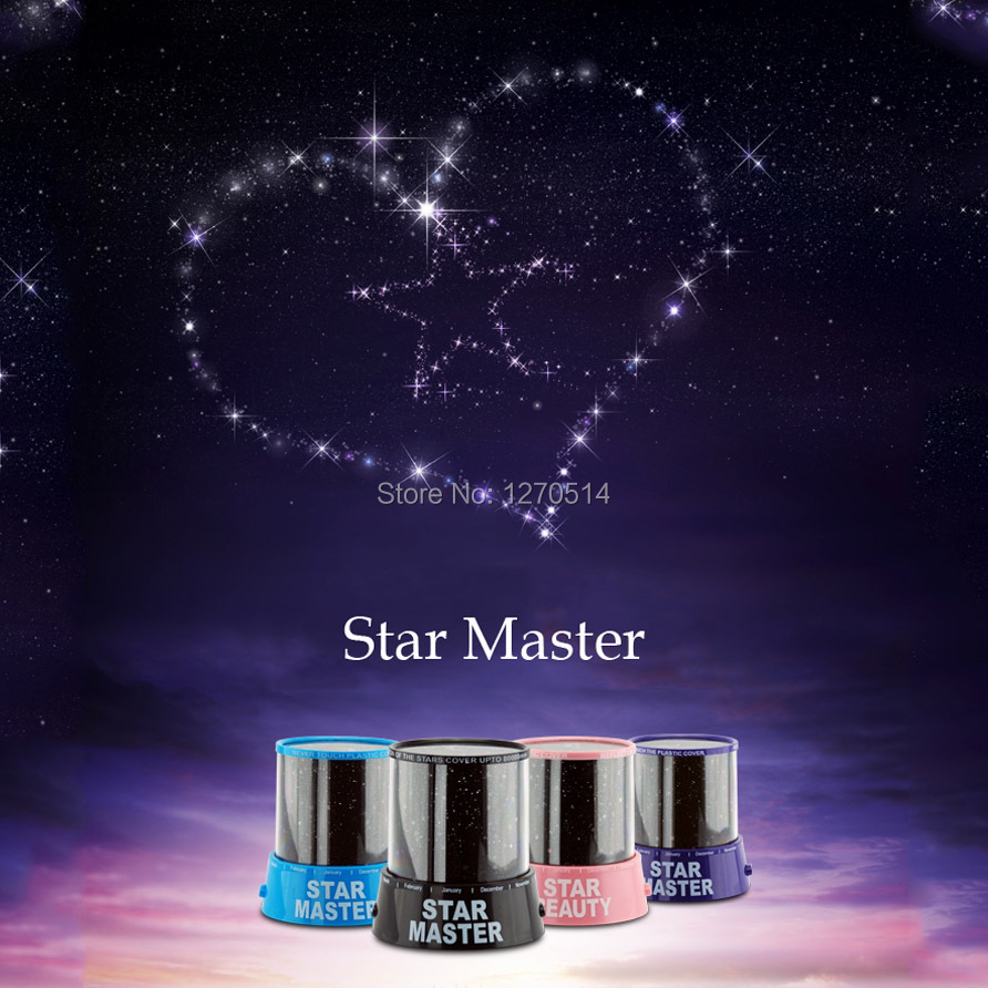 Romantic Star Projector lamp Automatic rotating LED Star Master Light Twinkle Light,Children Christmas gift, Birthday gift