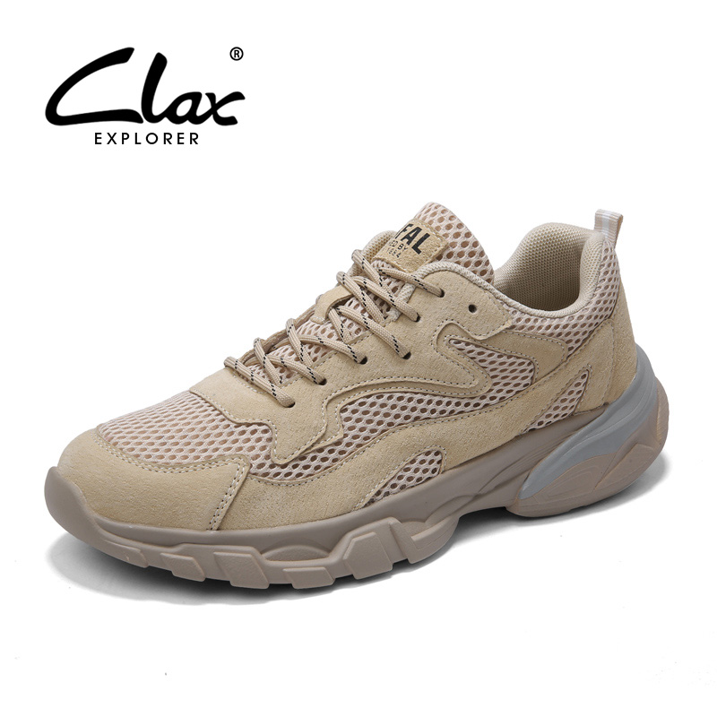 CLAX Mens Sneakers Fashion 2019 Spring Summer Mans Casual Shoes Breathable Male Trainers Walking Footwear Soft