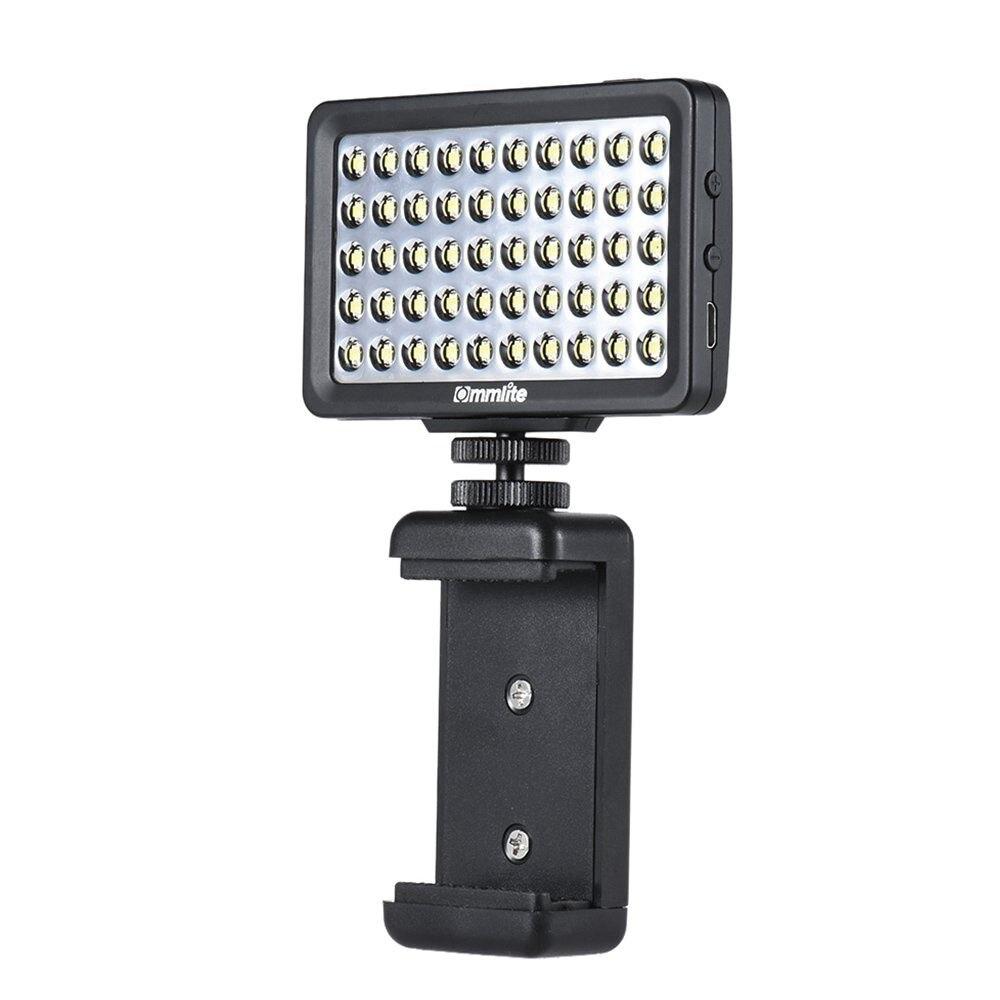 Kalai CM-L50 Multi-Fonctionnelle Mini LED Vidéo Lumière pour Téléphone Portable Pad DSLR pour GoPro Caméras