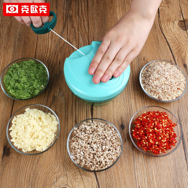 KEOUKE Manual Mashed Garlic Machine Meat Blenders Vegetable Food Processor Home Multifunctional Kitchen Cutting Mashing Tool
