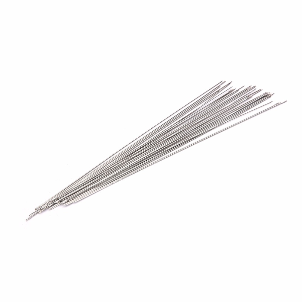 New 2Pcs Beading Needles Easy to Thread Cord Jewelry Tools For DIY Craft Making