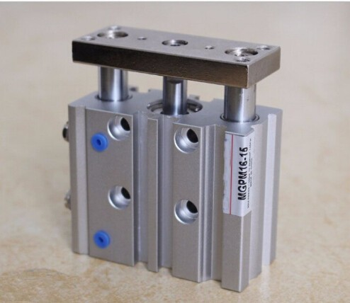 bore size 25mm*20mm stroke SMC Type Compact Guide Pneumatic Cylinder/Air Cylinder MGPM Series mgpm80 150 smc type 80mm bore 150mm stroke smc thin three axis cylinder with rod air cylinder pneumatic air tools mgpm series
