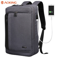 Aoking 2017 Nylon Men Backpack For Laptop Large Capacity Three Ways Stylish College Student School Backpack