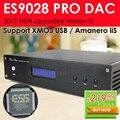 2017 ¡ NUEVO! TOP ES9028 ES9028PRO XMOS DAC Decoder Apoyo/Amanero I2S USB 32Bit/384 K Salida XLR balanceada DSD
