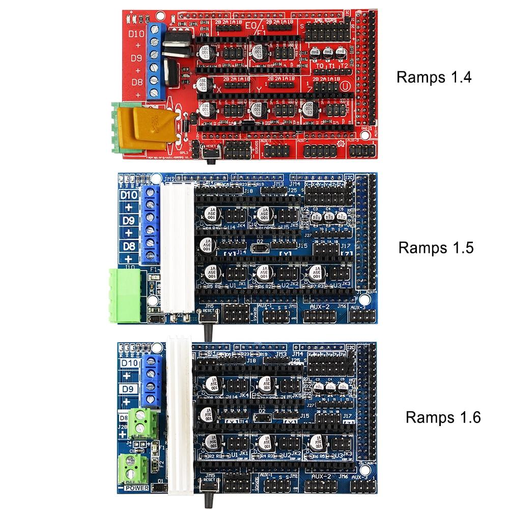 Запчасти для 3D-принтеров RAMPS 1,4 1,5 1,6, панель управления, материнская плата, щит, красный, черный, контроль s