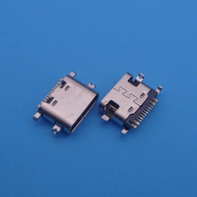 50pcs For BLUBOO S1 micro mini usb jack 16 pin type C connector socket charging port replacement repair parts dock plug 16pin