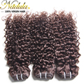 Brazilian curly virgin hair bundle deals, 5A Human Hair extension curly brazilian virgin hair #2 #4 brazilian hair weave bundles