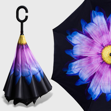 Reverse Inverted Umbrella Double Layer Leaf Parasol Umbrella Corporation Unbrella Umbrellas Sun Shade Ombrelli Parachase 50KO058