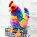 20 CM/30 CM de la Felpa Del Arco Iris Cock Juguetes Muñeca de Peluche de Felpa Animales Juguetes Gallo 2017 Mascota de Pollo Juguetes de Peluche para Niños Regalos de Navidad
